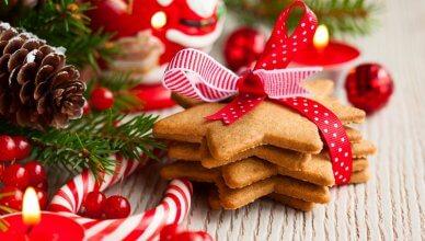 świąteczne ciasteczka i dekoracje
