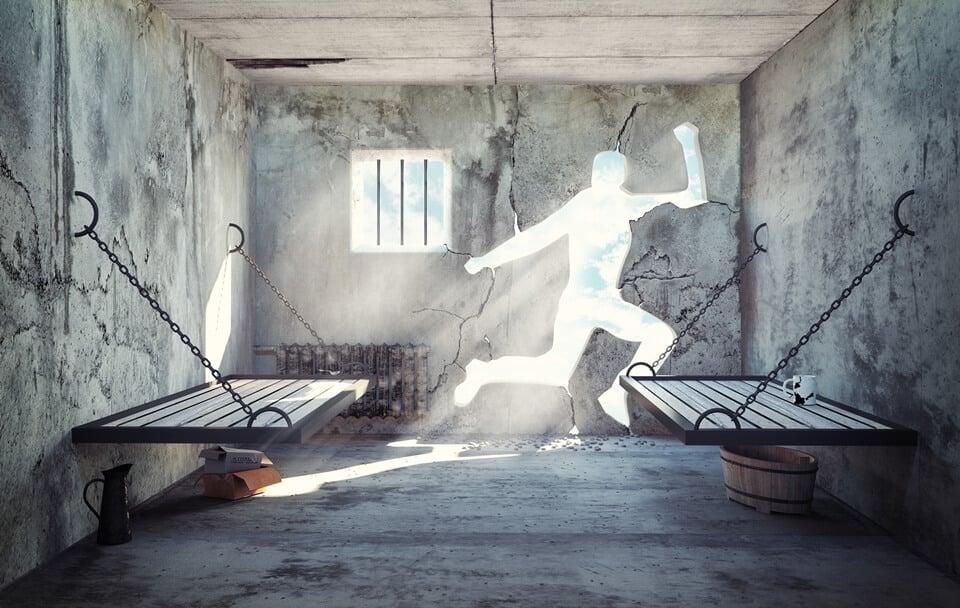 ucieczka zwięziennej celi