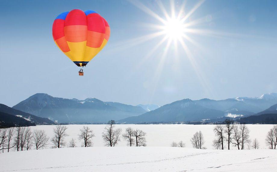 lot balonem zima