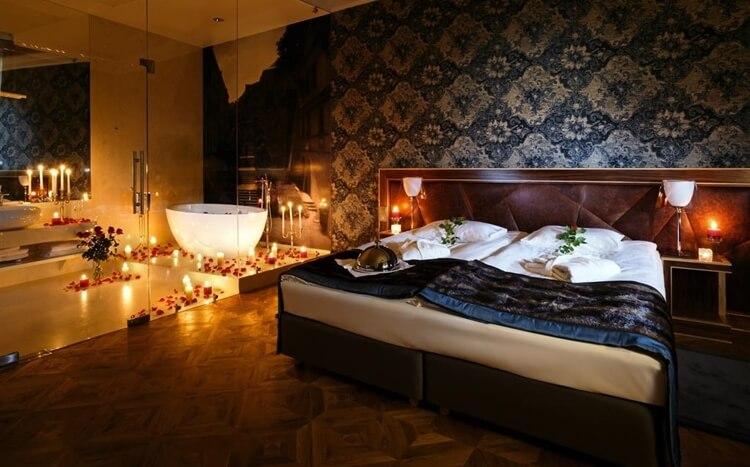 romantyczny wystrój pokoju whotelu alter wlublinie