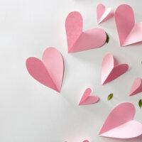 Walentynkowe origami