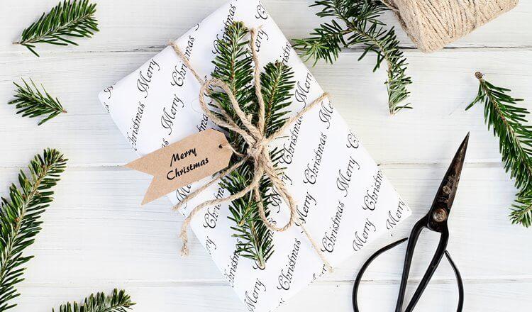 minimalistyczny prezent na święta