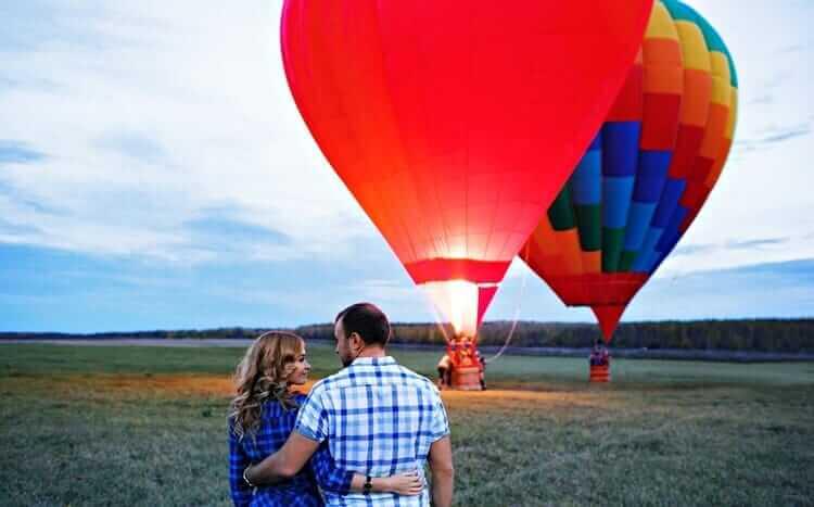modny prezent lot balonem