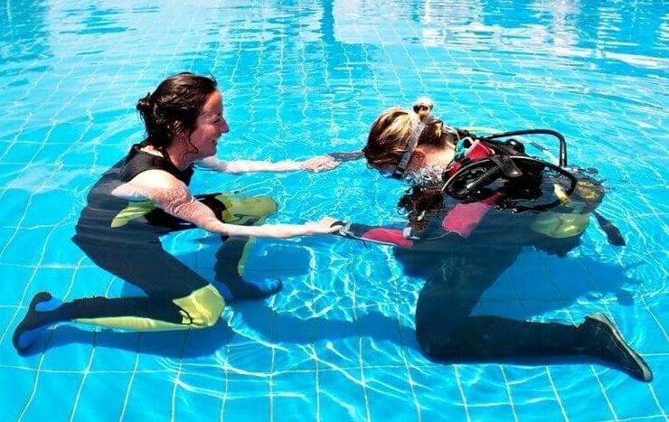 lekcja nurkowania na prezent urodzinowy dla 40-latki