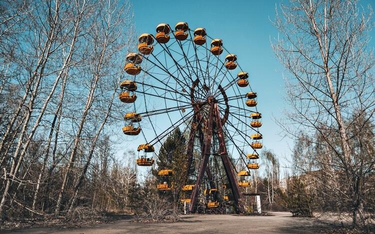 diabelski młyn wopuszczonym wesołym miasteczku wczarnobylu