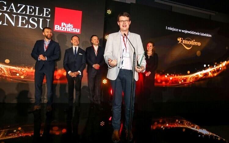 nagroda za I miejsce w województwie lubelskim dla emotivo w rankingu e-gazele biznesu