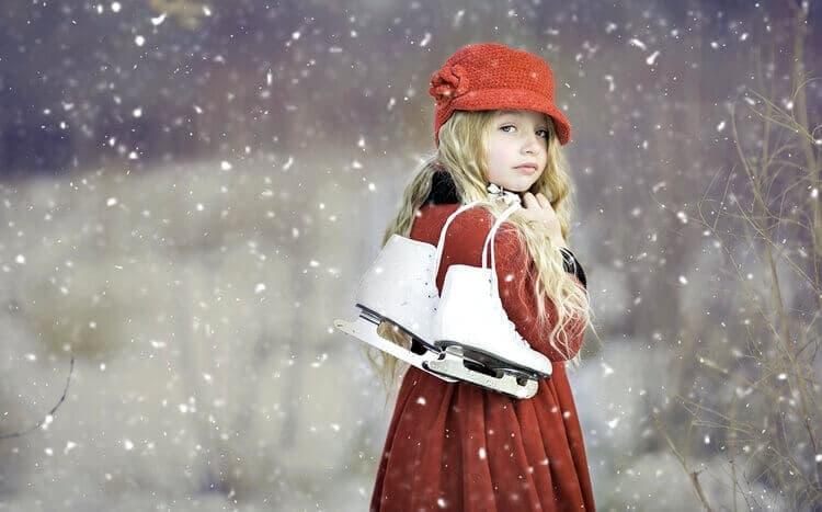 zimowa sesja zdjęciowa dla dzieci
