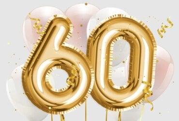 balony i życzenia na 60 urodziny