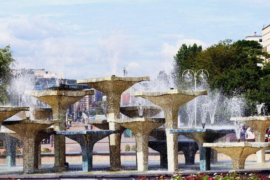 fontanna naskwerze Kosciuszki wGdyni