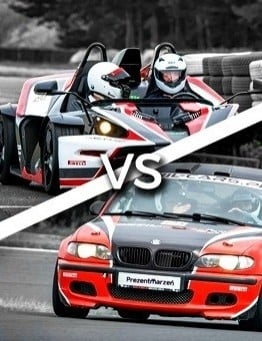 Jazda KTM X-BOW vs BMW M Power