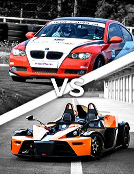 Jazda KTM X-BOW vs. BMW BiTurbo Performance