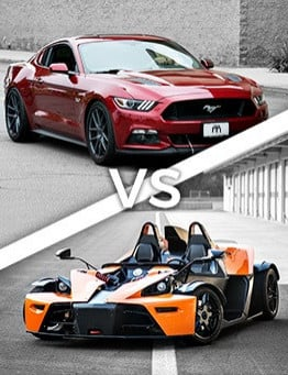 Jazda Ford Mustang vs KTM X-BOW