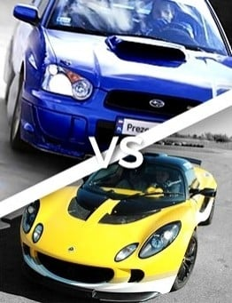 Jazda Lotus vs Subaru
