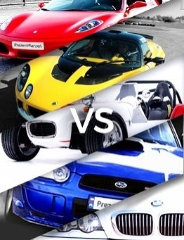Jazda Ferrari vs Lotus vs Subaru vs GKD vs BMW