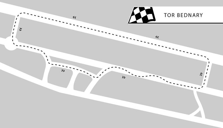 Tor Bednary w okolicach Poznania