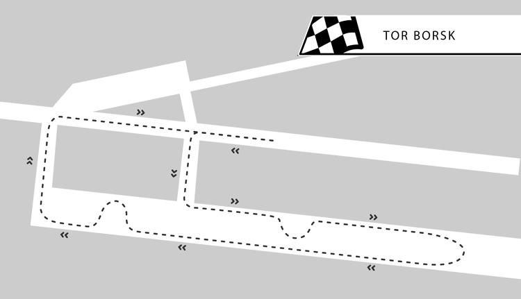Tor Borsk - niecałe 100km od Gdańska